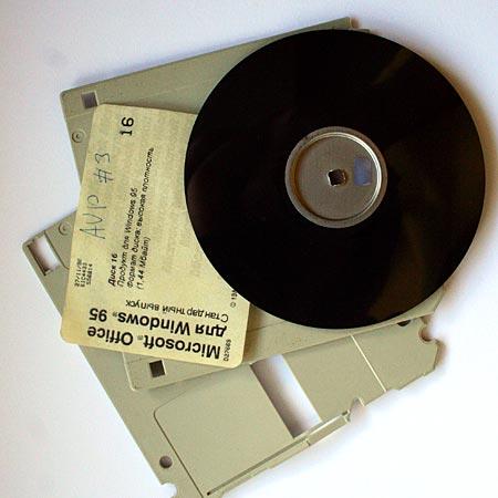 Ферритовая плёнка из дискеты прекрасно подходит для осмотра солнечных затмений
