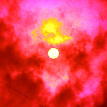 Вид солнца в 12.20