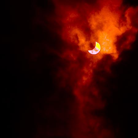 Солнечное затмение 01.08.2008 г. Вид солнца в 14.26