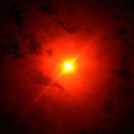 Солнечное затмение 01.08.2008 г. Вид солнца в 14.49.