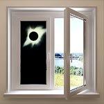 Предложение для коллективных просмотров солнечных затмений: закопчёное стекло в лёгкой и удобной раме из недорогого 3-камерного пластика размером 1.5x2 метра!