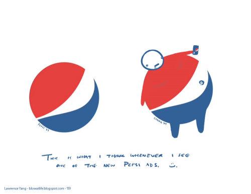 Логотипы пепси - старый и новый