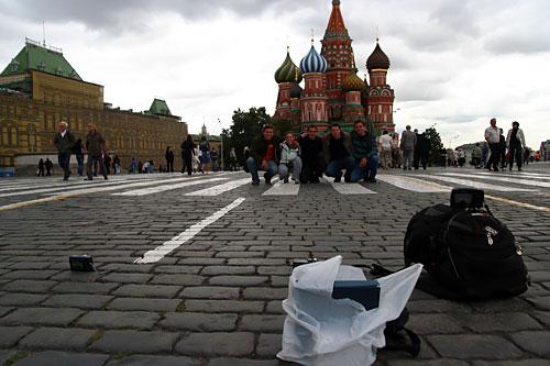 Туристы на Красной площади. Съёмка открытой камерой.