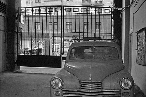 Распашные ворота середины ХХ века.