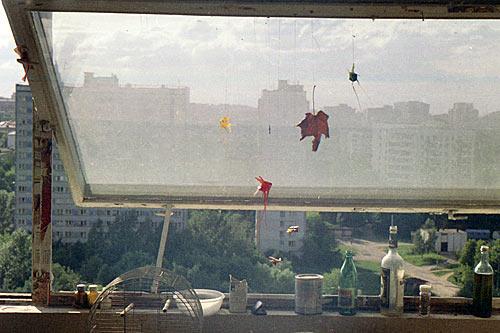 Вид из окна. ДАС МГУ. Москва. Август 1991 года.