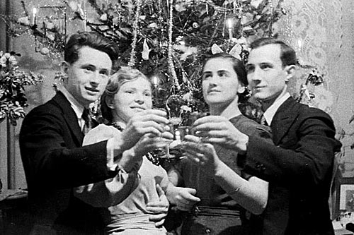 Новый год в СССР - хрусталь и шампанское