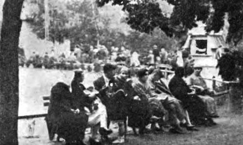 Воскресенье в парке. 1925 год (любительское фото)