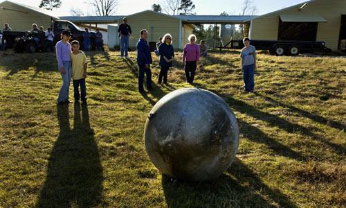 Узел спутника, упавший с неба в штате Техас (США)