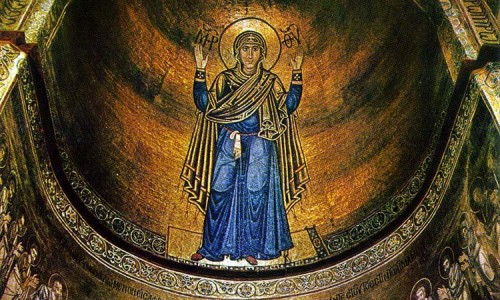 """""""Богоматерь Оранта"""". Мозаика 11 в., Киев, Софийский собор."""
