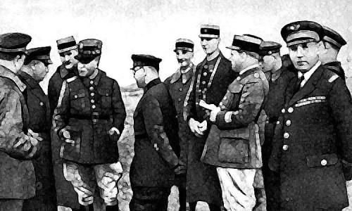 Представители стран Малой антанты на учениях РККА в Белоруссии. 1936 год.