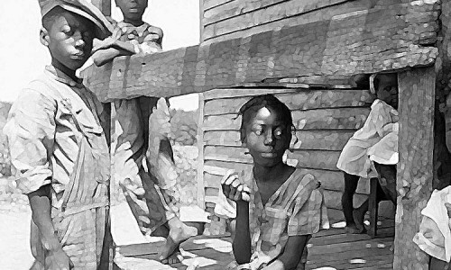 Негритянские дети. США. 1936 год.
