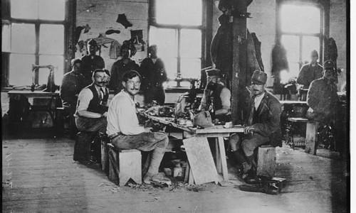 Чешские военнопленные в одной из сибирских тюрем. 1919 год.