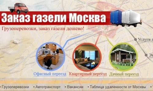 Заказ Газели. Москва. myvozim.ru.