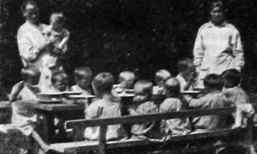 Ясли на селе. Московская губерния. 1927 год.