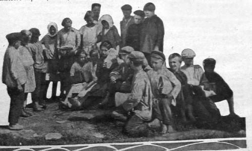 Члены коммуны «Красный Октябрь». 1928 год.